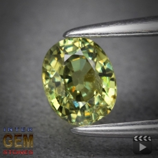 Demantoid, Oval, VS-SI, 0.491 Carat, 5.0x4.0 mm, aus Madagaskar