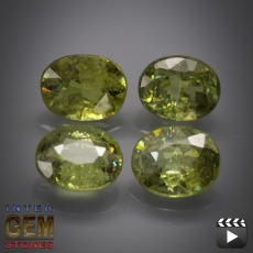Demantoid Set, Oval, VS-SI, 2.03 Carat, 5.2x4.0-5.3x4.3 mm, aus Madagaskar
